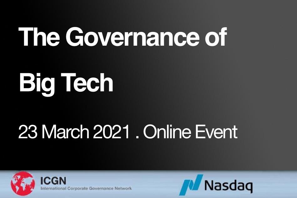 The Governance of Big Tech