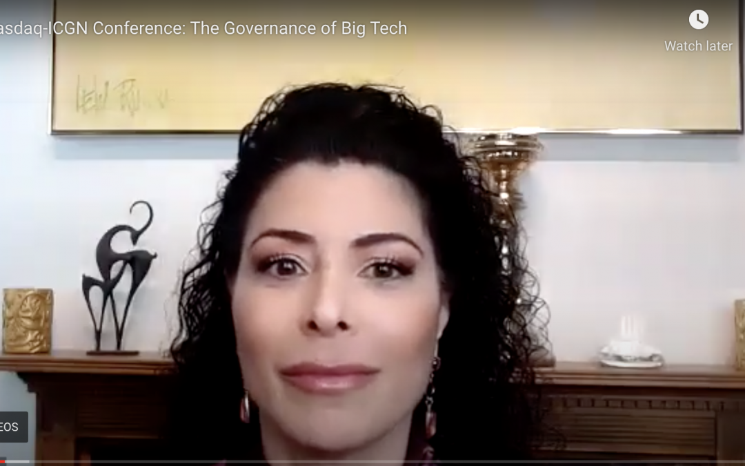 Nasdaq-ICGN Conference: The Governance of Big Tech